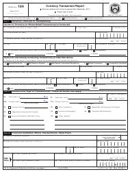 "FinCEN Form 104 ""Currency Transaction Report"""