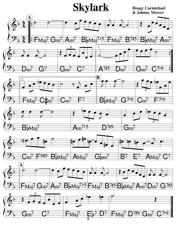 """""""Hoagy Carmichael and Johnny Mercer - Skylark Sheet Music"""""""