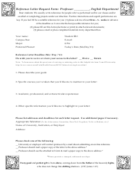 Reference Letter Request Form - Cornell University
