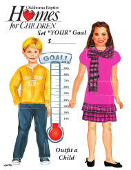 """Thermometer Goal Chart Template - Oklahoma Baptist"""