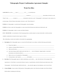 Videography Confirmation Agreement Template