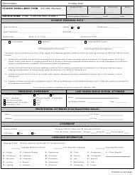 "Form SIS-10W ""Student Enrollment Form"" - Hawaii"