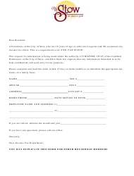 Income Tax Return Form - City of Stow, Ohio