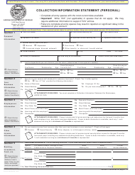 "Form ADOR10896 ""Collection Information Statement (Personal)"" - Arizona"