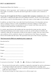 """Pet Agreement Template"""
