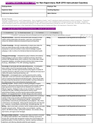 """""""Performance Review Form for Non-supervisory Staff (Dys Instructional Coaches)"""" - Ohio"""