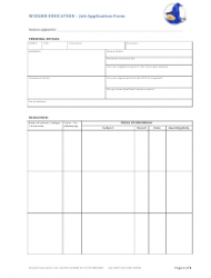 page_1_thumb Job Application Form Template Australia Word Format Hgzpft on
