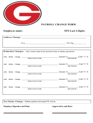 """Payroll Change Form"" - Texas"