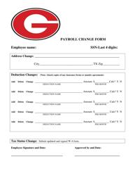 """Payroll Change Form"" - Texas"