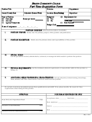 """part Time Requisition Form - Bergen Community College"""
