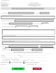 """""""Prevailing Wage Request Form"""" - Connecticut"""