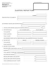"Form SC-610-044 ""Quarterly Report Form"" - Washington"