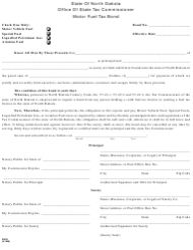 Form 22979 Motor Fuel Tax Bond - North Dakota