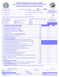 Form OS-3105G Business Gross Revenue Tax Quarterly Return - Northern Mariana Islands
