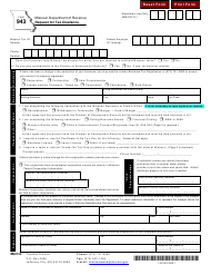 "Form 943 ""Request for Tax Clearance"" - Missouri"