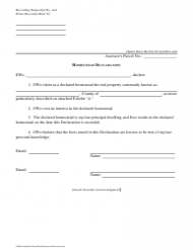 Homestead Declaration Form