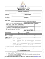 """""""Medical, Dental, Vision Claim Expense Form - Saico"""" - Riyadh Region, Saudi Arabia"""