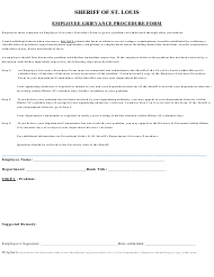"""Employee Grievance Procedure Form"" - City of St. Louis, Missouri"