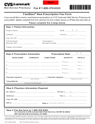 "Form 106-13946a ""Faststart New Prescription Fax - Cvs Caremark"" - Arizona"