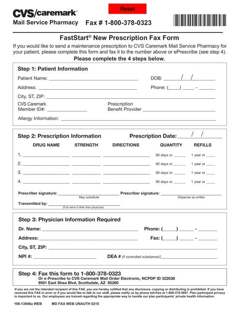 Form 106-13946a Download Fillable PDF, Faststart New