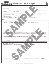 "Form M010 OR ""Maintenance & Repair Request Form - Multifamily Nw - Sample"" - Oregon"