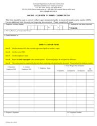 "Form UITR-6C ""Social Security Number Corrections"" - Colorado"