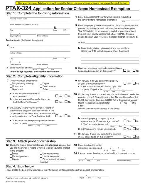Form PTAX-324  Printable Pdf