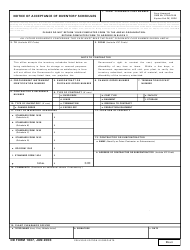 DD Form 1637 Notice of Acceptance of Inventory Schedules