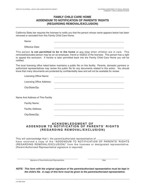 Form LIC995B  Printable Pdf