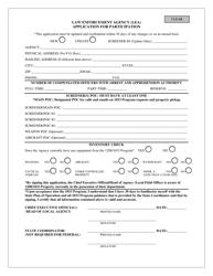 """Law Enforcement Agency (Lea) Application for Participation"" - Mississippi"