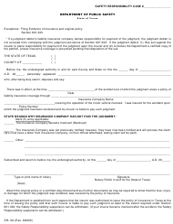 "Form SR-13C ""Judgment Liability Affidavit"" - Texas"