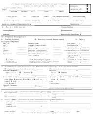 "Form 5615 ""Status of Nursing Facility Care"" - Colorado"