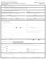 "Form TLR9163 ""Request for Live Scan Service for Subsidized Trustline Registry Applicants"" - California"