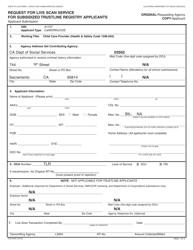 Form TLR 9163 Request for Live Scan Service for Subsidized Trustline Registry Applicants - California