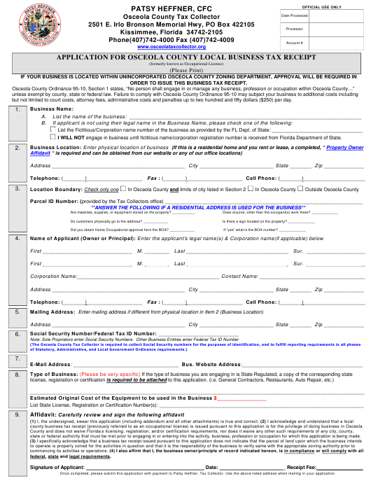 Florida Tax Forms And Templates Pdf