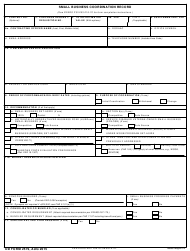 "DD Form 2579 ""Small Business Coordination Record"""
