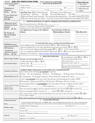 """Shelter Verification Form"""