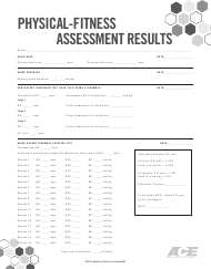 """""""Physical-Fitness Assessment Results Form - American Council on Exercise"""""""