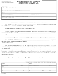 "CC- Form A ORDER ""Order for Change of Treating Physician"" - Oklahoma"