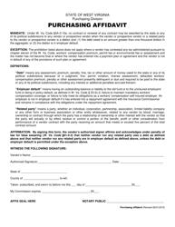 """Purchasing Affidavit Form"" - West Virginia"