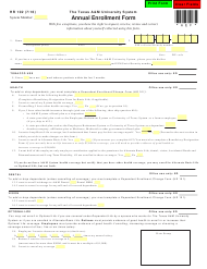 "Form HR102 ""Annual Enrollment Form - the Texas a&m University System"" - Texas"