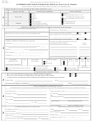 """Form Cfs718-a """"Authorization for Background Check for Foster Care and Adoption"""" - Illinois"""