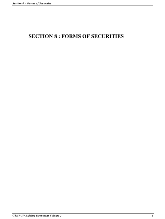 "Sample ""Section 8 - Forms of Securities"" - Gujarat, India Download Pdf"
