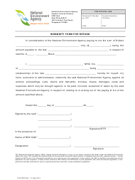 """""""Indemnity Form for Refund"""" - Singapore"""