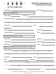 """Membership Form Template - Ebrd Mls"" - California"