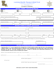 """Change of Address Form - Louisiana Sheriffs' Pension&relief Fund"" - Louisiana"