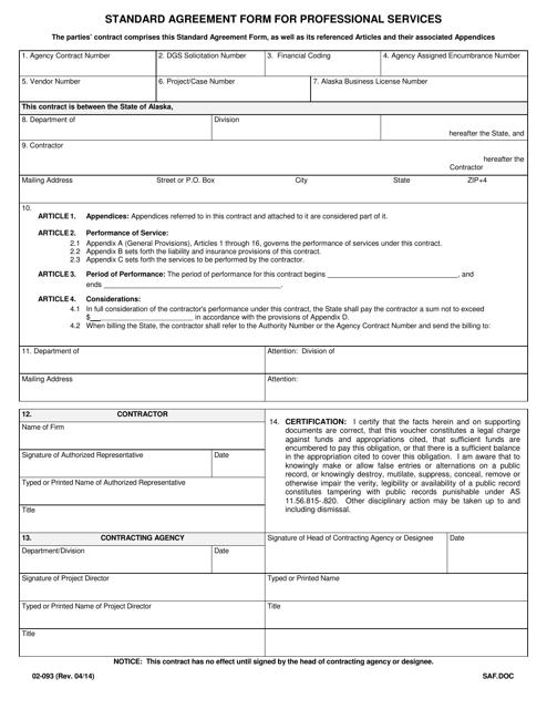 Form 02- 093  Printable Pdf