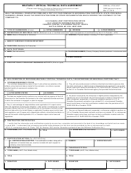DD Form 2345 Militarily Critical Technical Data Agreement