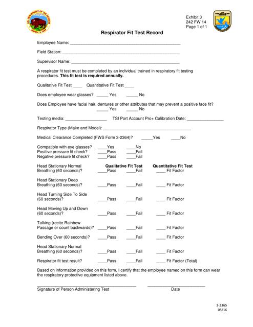 Form 3-2365  Printable Pdf