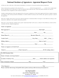 """""""Appraisal Request Form - National Institute of Appraisers"""""""